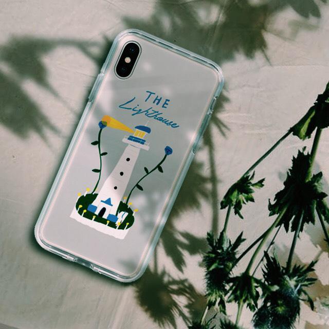 【iPhone11/11pro対応】花咲く灯台ミラーケース