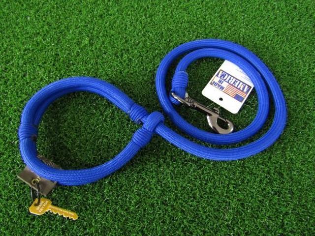 リード ロープ型/ブルー(太)【しっかりしたロープはお散歩に安心感をくれますね!!きれいなブルーです☆】