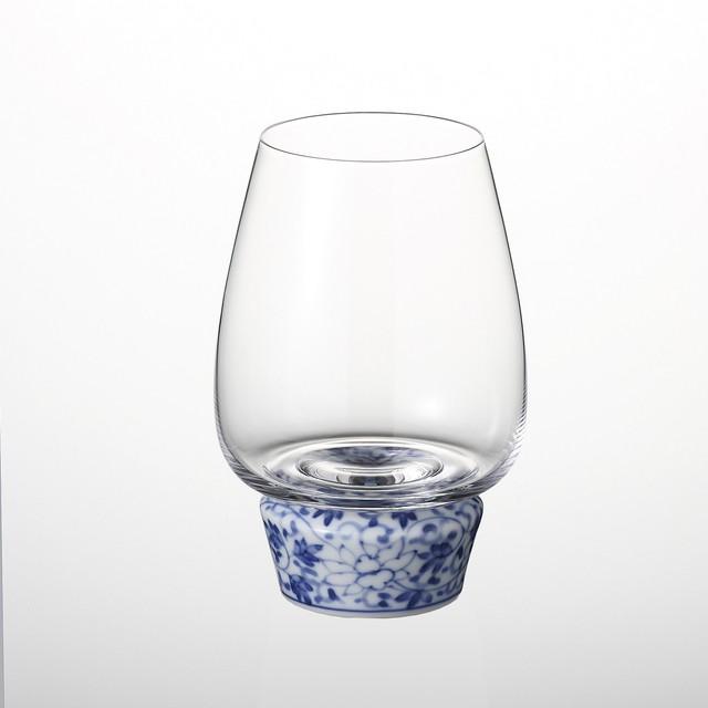ゆらりんグラス (染付華唐草) 20-005-B