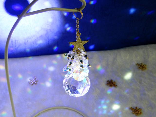 モミの木と星のクリスマスツリーサンキャッチャーVer.4