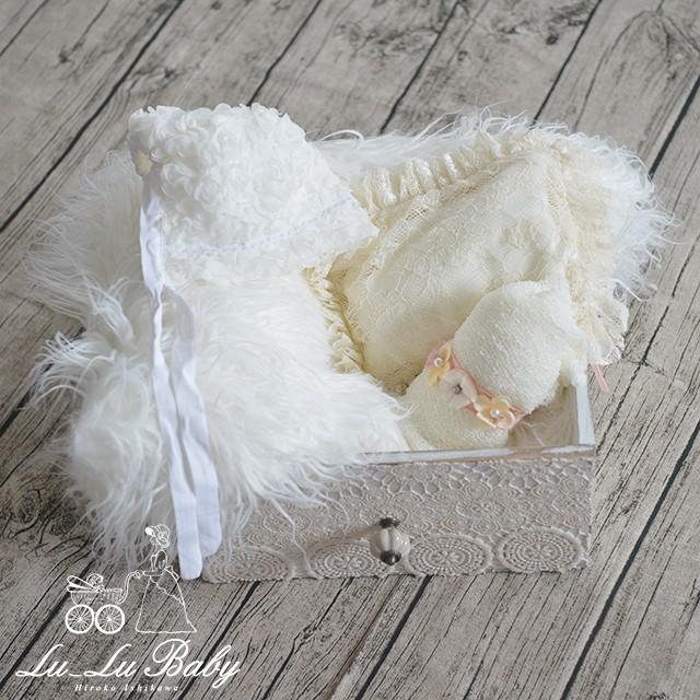 【大好評Lu-Lu Baby Propsのセット商品】ピュアなイメージにバッチリ♪ホワイト6点セット