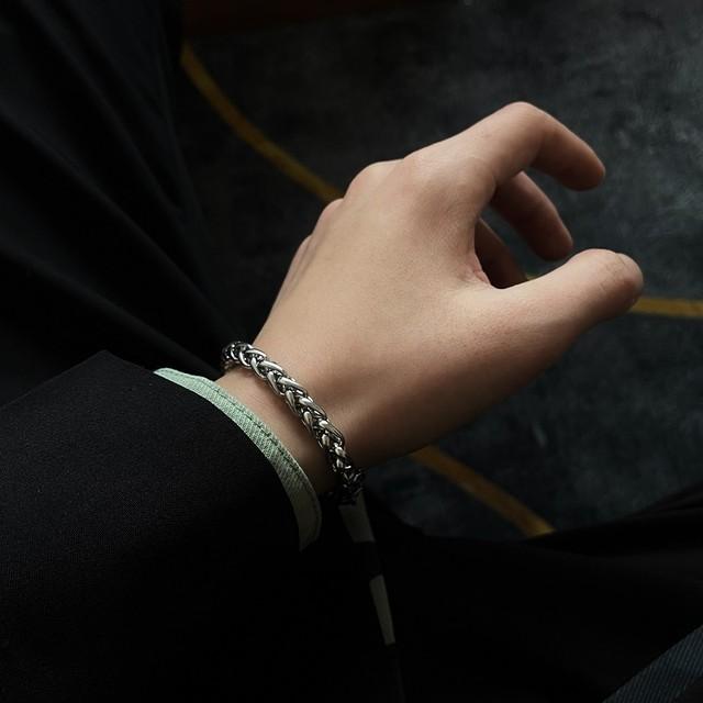 Keel chain silver bracelet   b-427