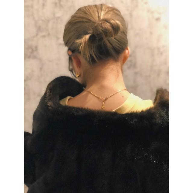 US dark brown fur coat