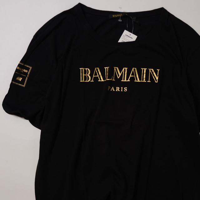【Lサイズ寸】BALMAN×H&M LOGO TEE バルマン コラボ 半袖TシャツBLK ONESIZE 400601190812