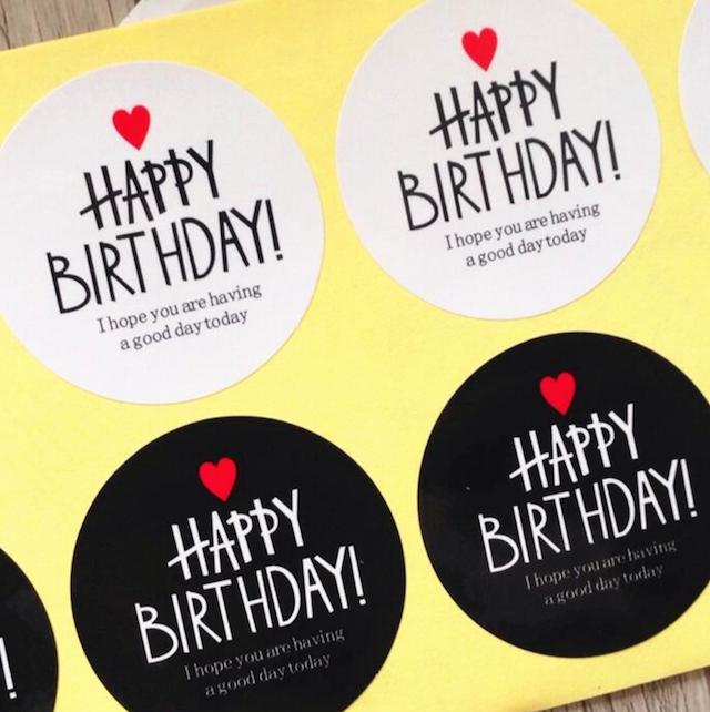 誕生日 バースデー ラッピング  ギフトシール Happy Birthday