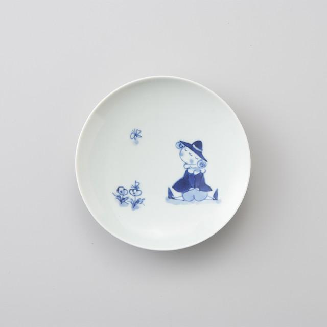 【青花】紅毛人2−2 丸銘々皿