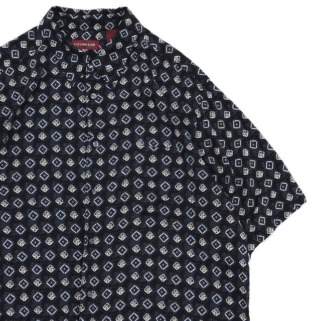 COVINGTON fine full pattern rayon shirt