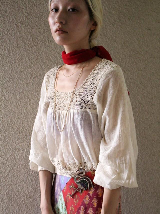 70's cotton blouse