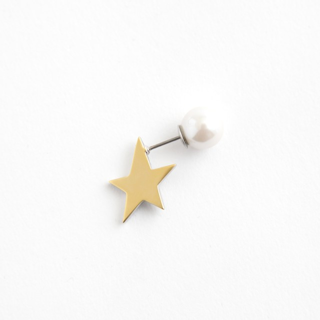 MAYU/PEARL RIVETS/Three Quarters mat Gold 14mm Gold(片耳)