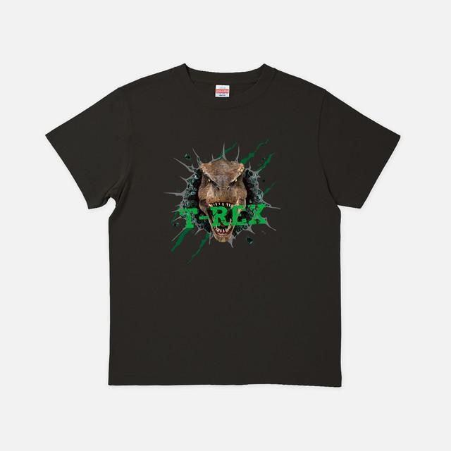 [リアルダイナソー]緑のT-REX スミ色