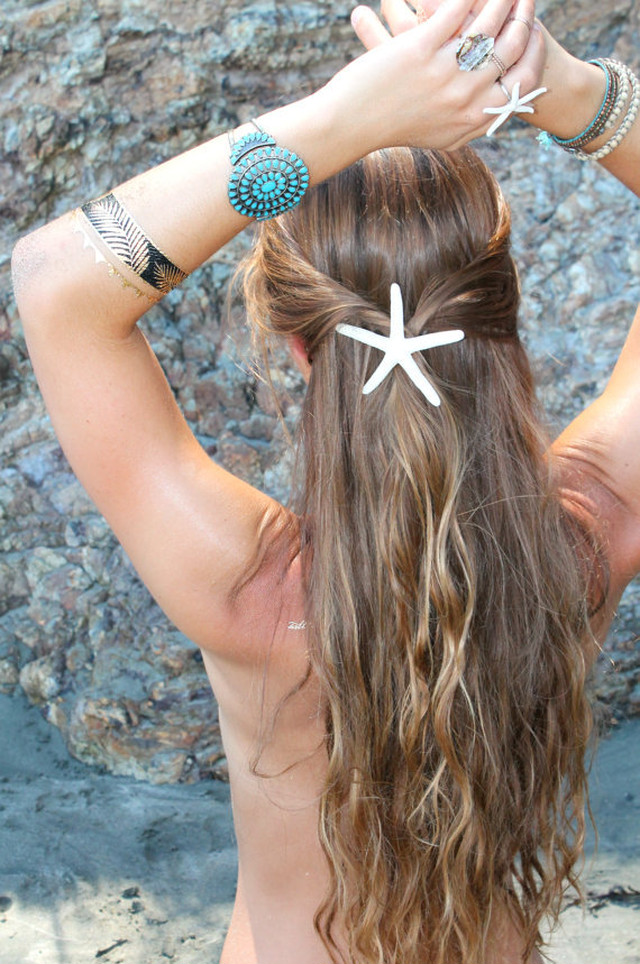 Pencil Starfish Barrette