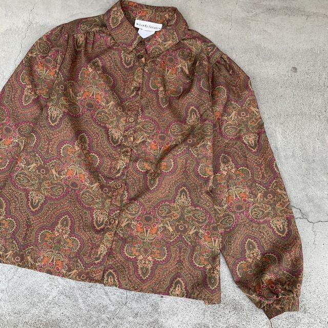 70's vintage paisley blouse