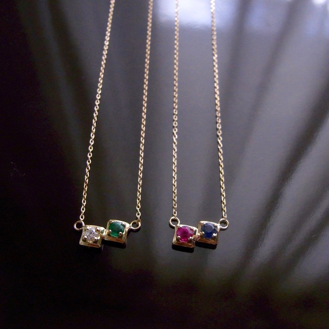 K18 Toi et Moi Necklace / K18トワ・エ・モア(セミオーダーネックレス)