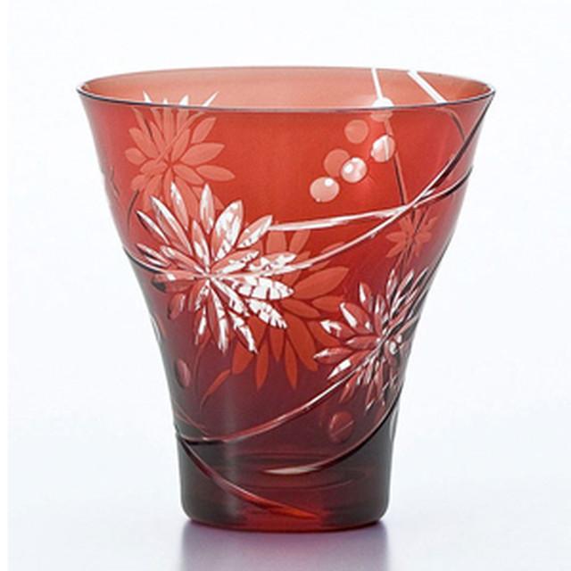 東洋佐々木ガラス キリコ タンブラー 350ml 花かんざし