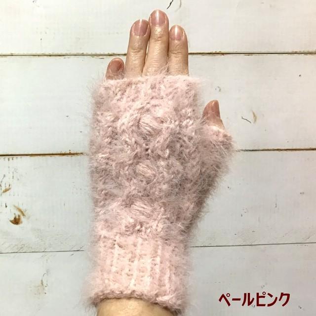 スマホもらくらく!花モチーフ付きやわらか手袋