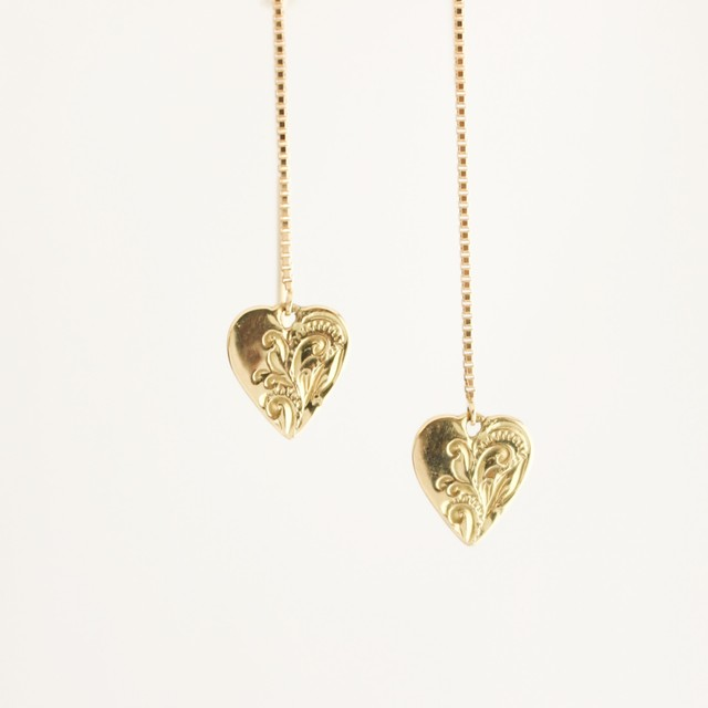 PETIT HEART AMERICAN EARRINGS