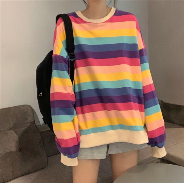 虹色のBIGトレーナー【FS1540】