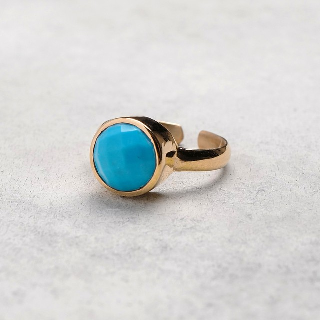 SINGLE STONE ADJUSTABLE RING 019