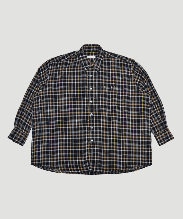 OUR LEGACY Borrowed BD Shirt Brown Check  M4192BB