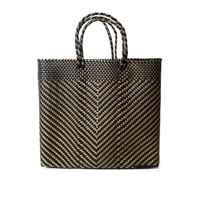 MERCADO BAG ESPIGA - Black x Gold(M)
