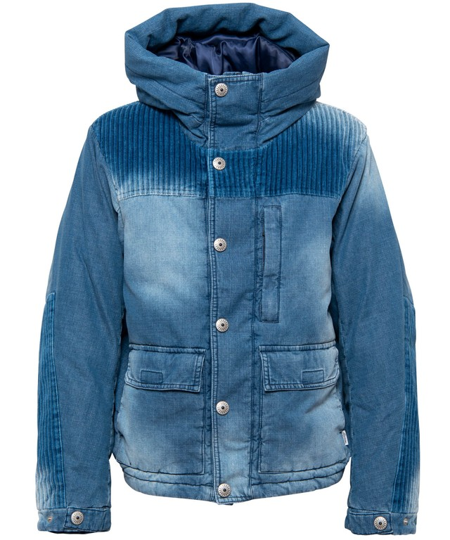 VINTAGE DENIM DOWN JACKET[REJ037]