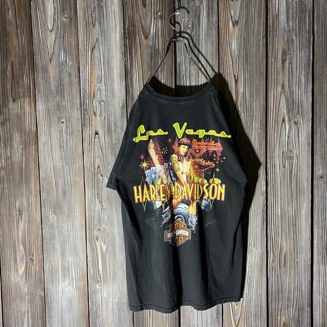 [HARLEY DAVIDSON]casino design T shirt