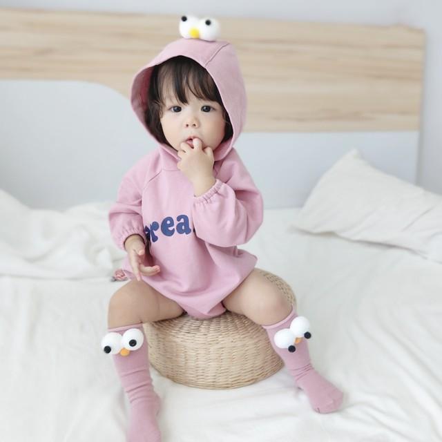 【子供服】コットンカートゥーンフード付き着心地いいベビーオールインワン22729847