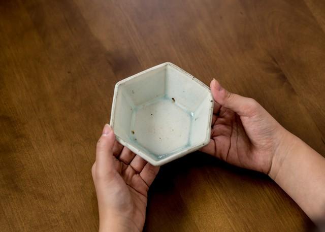 灰マット 六角鉢(小鉢)/くるり窯