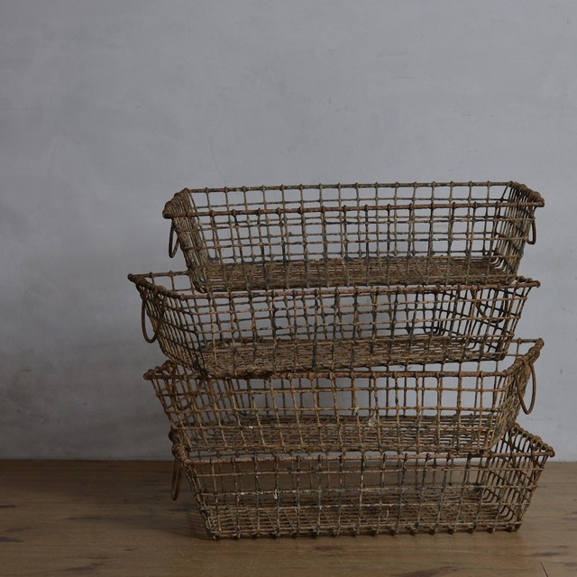 Oyster Basket / オイスター バスケット 〈カゴ・籠・収納〉