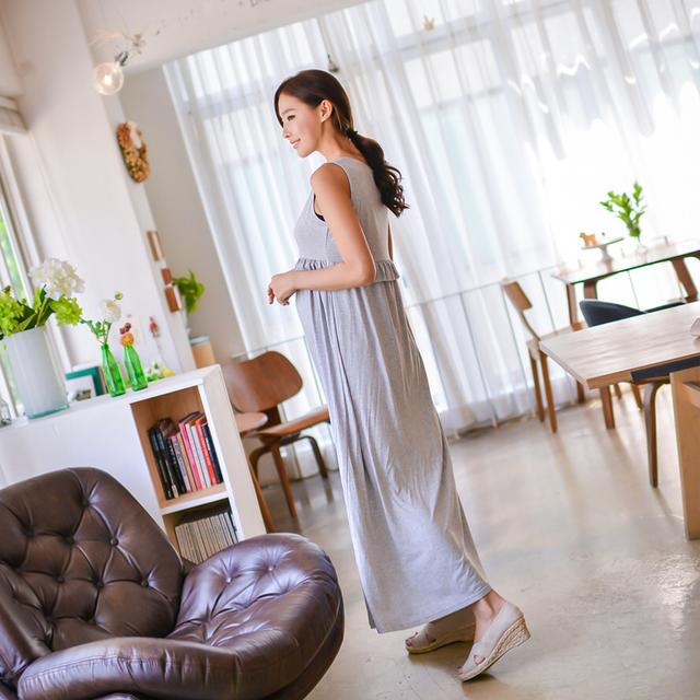 マタニティウェア【スカート】妊婦服 調整可能 薄手 グレー/Mサイズ