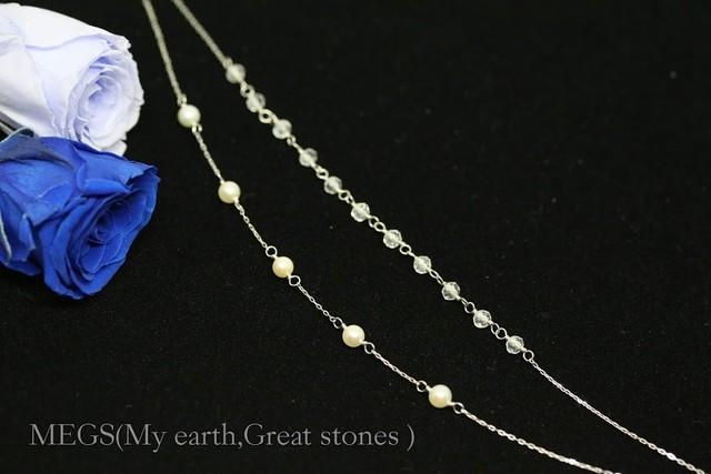 Paraselene『幻月 GENGETSU』 ブレスレット【K10 刻印入 あこやベビー真珠&クォーツ(水晶)】