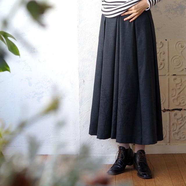 レオパードチュールプリーツスカート *リヨカ(Liyoca)