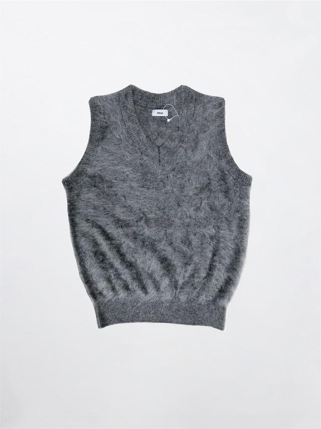 Allege Cashmere Mink Vest Gray AL20AW-KN03
