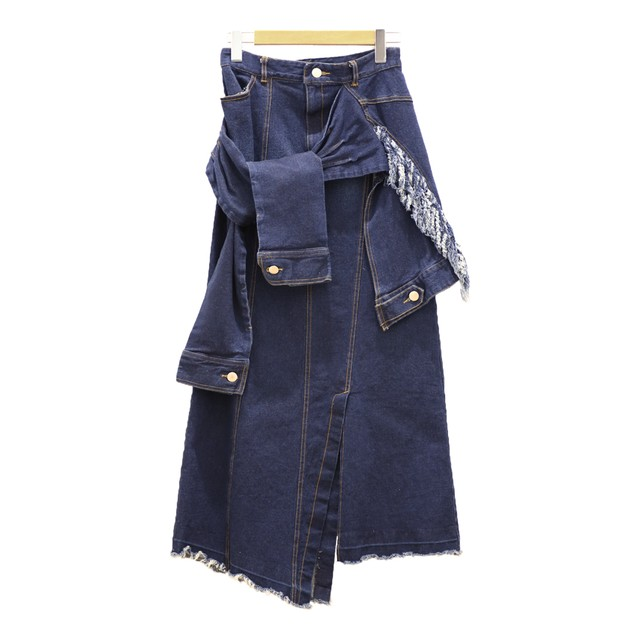 AULA AILAアウラアイラ/WRAP DESIGN DENIM SKIRTラップデザインデニムスカート【1203-07005】