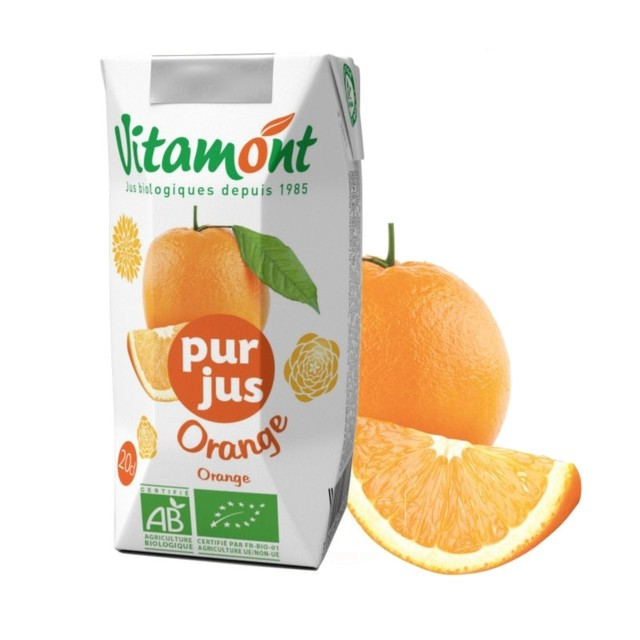 ヴィタモント オレンジジュース 200ml 有機ストレートジュース ピュアジュース オーガニック[宅急便]