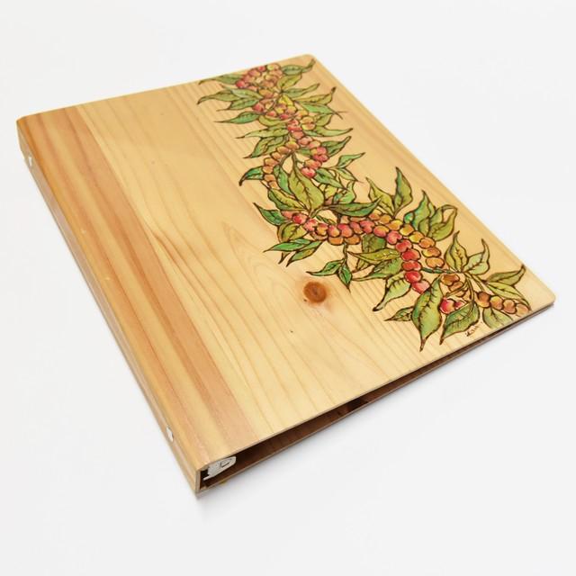 Wood File A4 【 Maile&Mokihana Lei 】