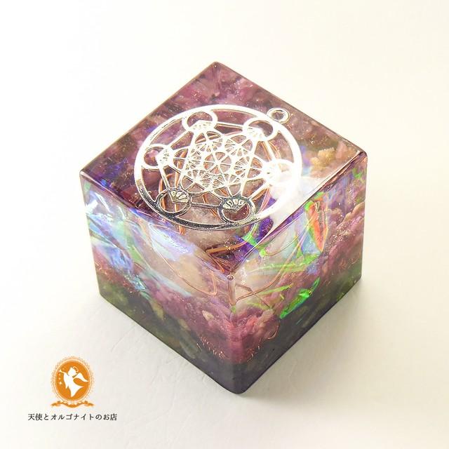 大天使メタトロンのオルゴナイトキューブ フルーツオブライフ cube100100008am