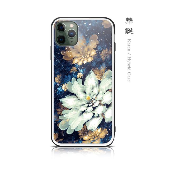 華誕 - 和風 強化ガラスiPhoneケース