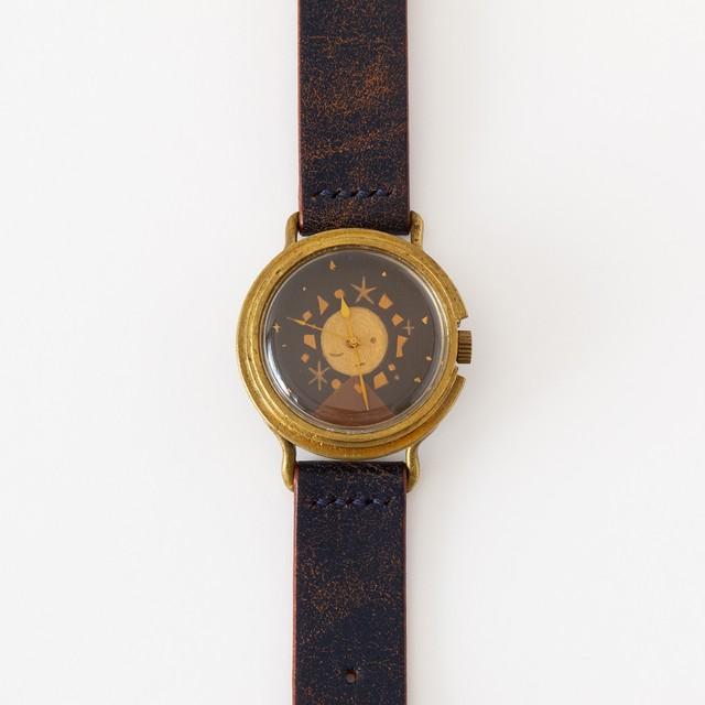【個展出品のため 要お問い合わせ】アート腕時計『宙の子』