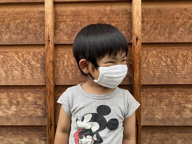 [抗菌]2枚セット KIDSサイズ クールデニムマスク-CLENSE素材×キシリトールガーゼ- / AK1-KIDS-COOL2