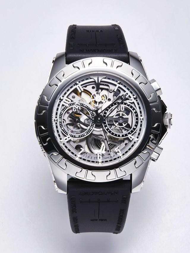 【TIRET】ティレット ACスケルトン ホワイト  AUTOMATIC CHRONOGRAPH 100 SKELETON /スイスメイド腕時計