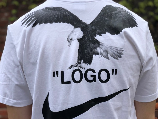 NIKE × OFF-WHITE NRG A6 EAGLE TEE WHITE MEDIUM BQ0827-101 62.5JF6633