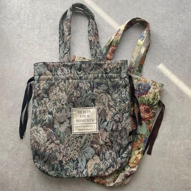 ◆即納◆ゴブラン織り 巾着バッグ 2S-146