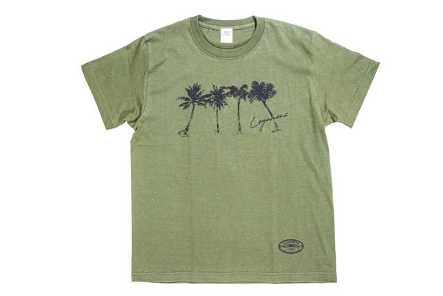 【brush palm tree T-shirt】/ khaki