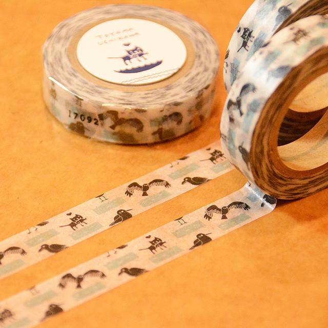 内川マスキングテープ(生き物)