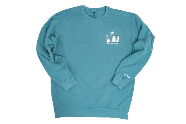 "【""USA"" vintage star logo sweat】/ pastel green"