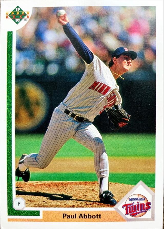 MLBカード 91UPPERDECK Paul Abbott #487 TWINS