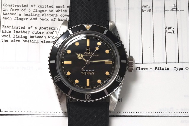 "WMT WATCH SEA DIVER ""DIVER Ⅱ"" Mirror  Dial with TROPIC BAND"