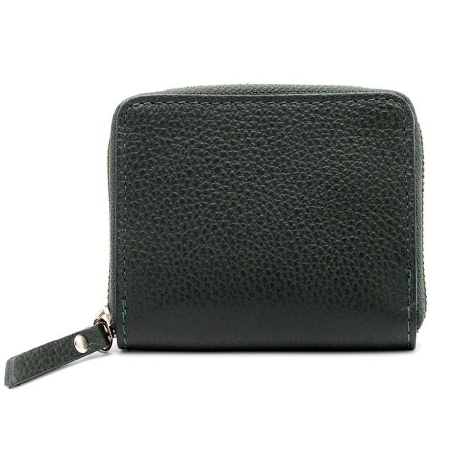 財布 イタリア製 ミニ グリーン