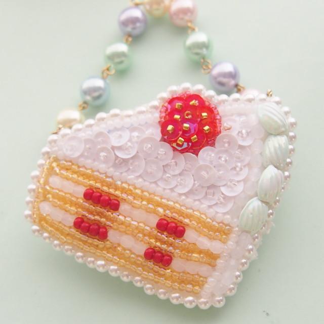 【7/21 21:00】ケーキの2wayバッグチャーム ミント